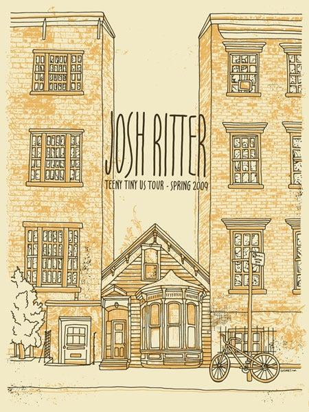 Image of Josh Ritter Teeny Tiny Tour Poster 2009