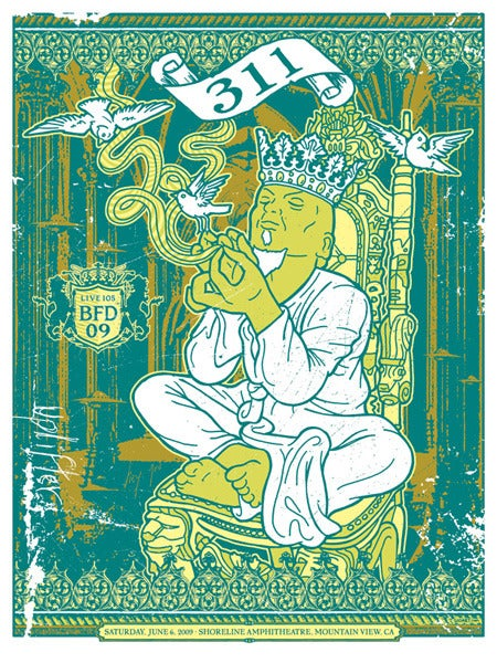Image of 311 King Royalty BFD Poster 2009