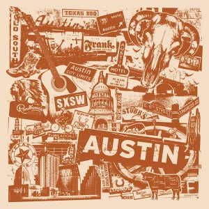Image of Austin Texas City Print