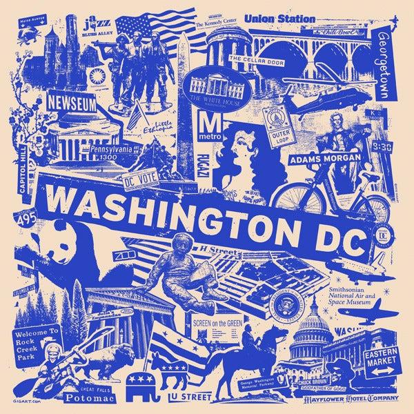 Image of Washington DC City Print