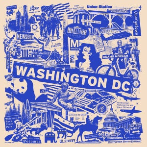 Image of Washington DC City Print