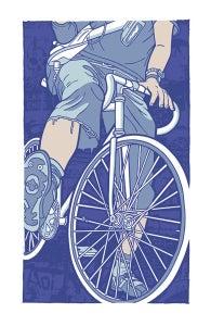 Image of Bike Lane Ends Art Print