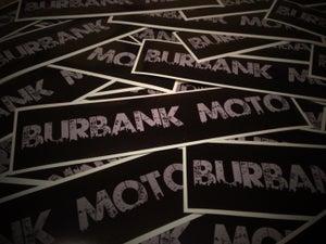 "Image of NEW! Burbank Moto ""Urbano"" Decal. GREY. (2) Free Shipping!"