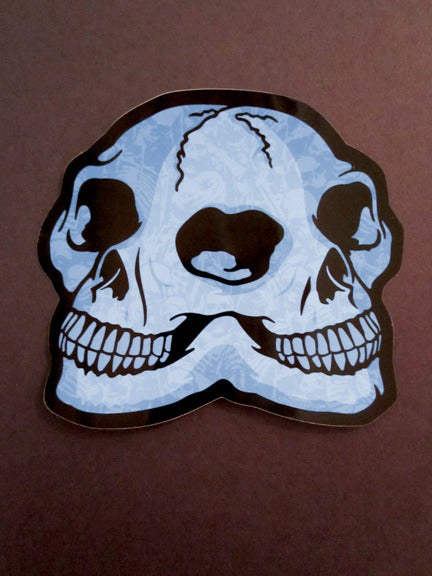 GIGART Double Skull Die Cut Vinyl Sticker - Die cut vinyl stickers