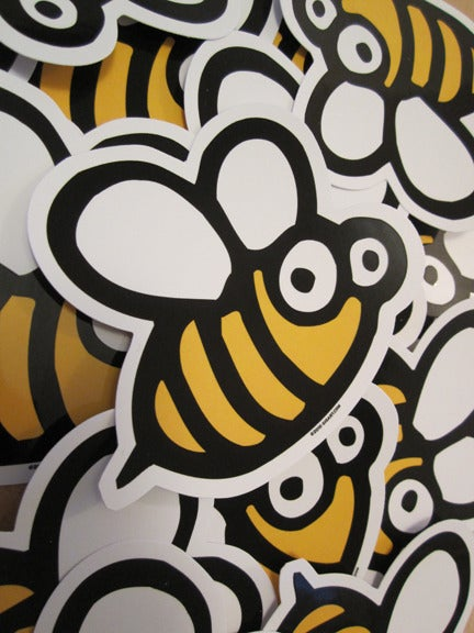 Image of Bumble Bee Die Cut Vinyl Sticker