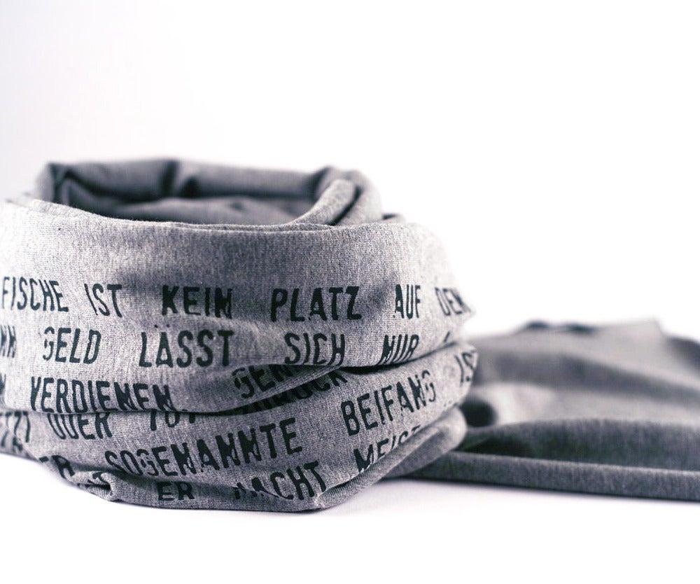 Image of Jersey-Schal grau meliert