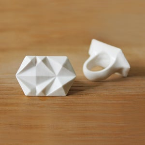 Image of Rocky Small Bone China Ring