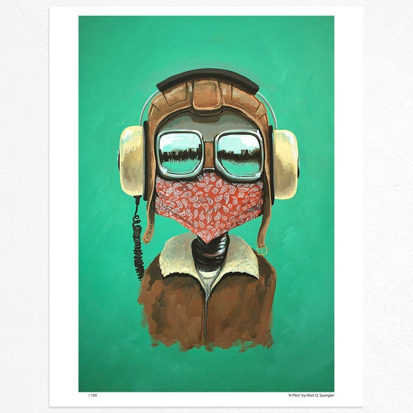A Pilot Print - Matt Q. Spangler Illustration