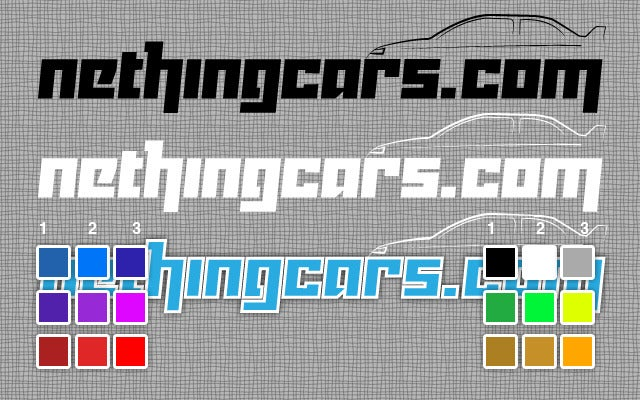 Image of NETHING CARS Decal