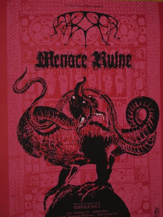 Image of Pesanta Posters: Ash Borer/Menace Ruine tour posters