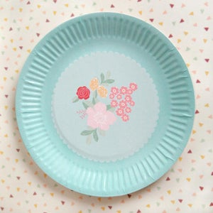 Image of Flower Bouquet Paper Plates