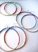 Image of African & Tribal Inspired Large Beaded Hoops - Choose color (Silver Edition) (La NomRah x Vibrant)