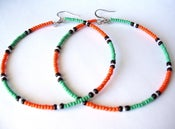 Image of African & Tribal Inspired Large Beaded Hoops (La NomRah x Vibrant)