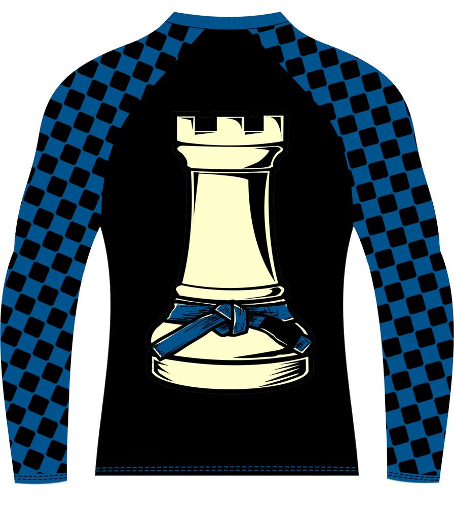 Image of Super Chess Ranked Rashguard Long Sleeve (BLUE)