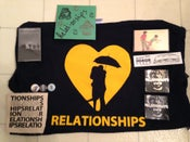 Image of Relationships Shirt/Split Cassette/Get Busy Cassette/Stickers/Buttons/CD/Patch