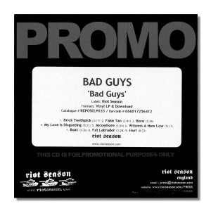 Image of BAD GUYS 'Bad Guys' Promo CDR