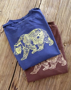 Image of Organic Cotton Men's Long Sleeve Bear Logo T-Shirt