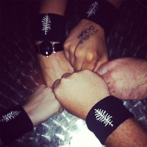 Image of Hemlock Tree Embroidered Wristband