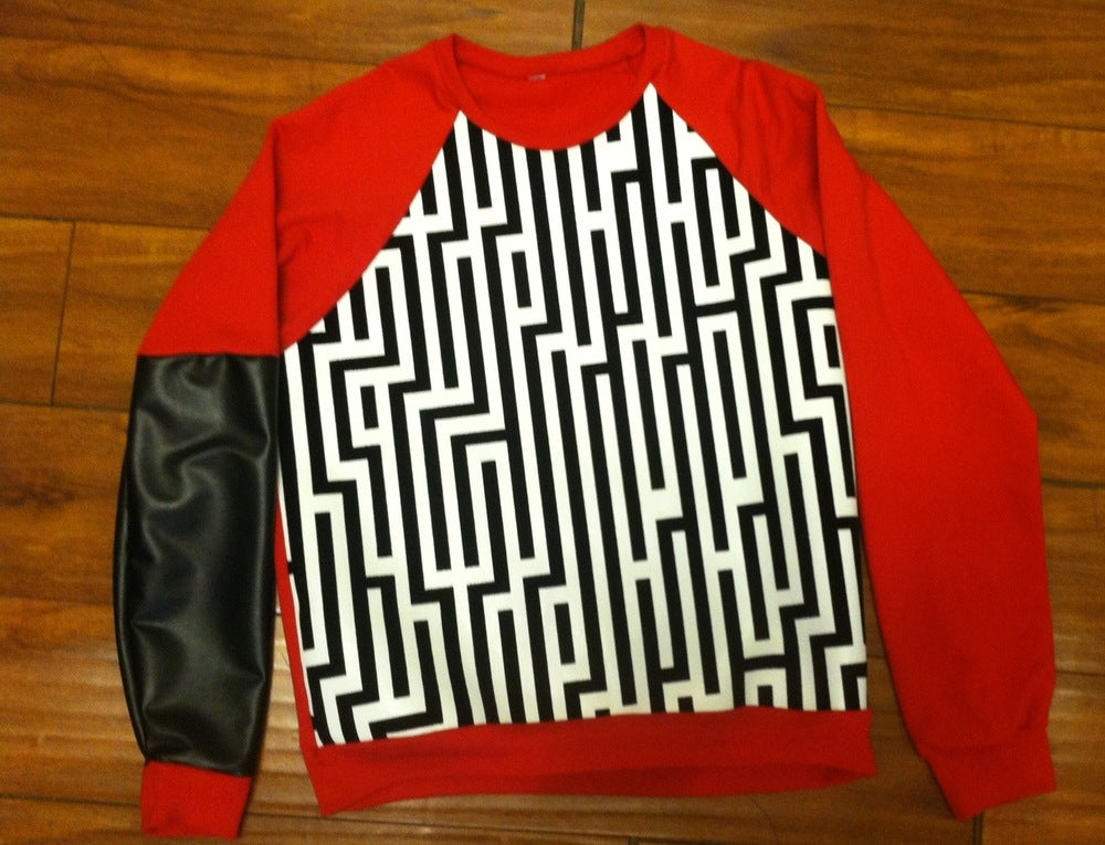 Image of Red Pyramid Sweater