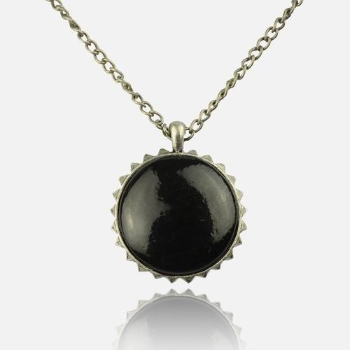 Image of Black & Silver Star Necklace
