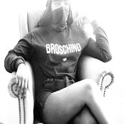 Image of BROSCHINO BLACK LONGSLEEVE