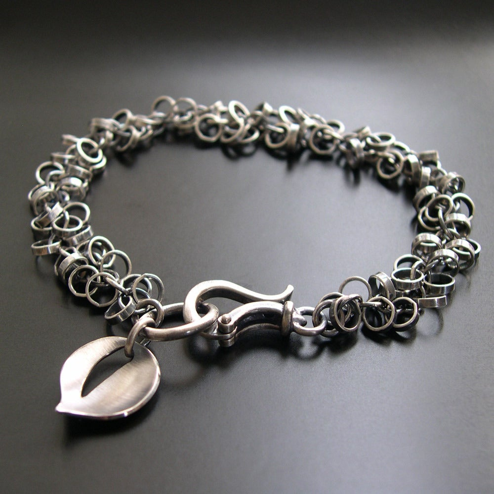 Make A Chain Mail Bracelet: Chainmail Leaf Bracelet / Ai Jewelry