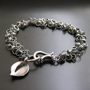 Image of Chainmail Leaf Bracelet