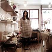 Image of 100% Cotton Knot-front Dress / 全棉前綁花邊娃娃長衫 ( code: 114 )