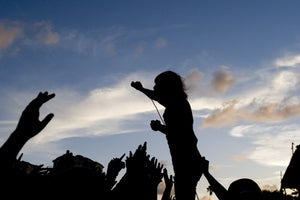 Image of Pierce the Veil Silhouette @ Vans Warped Tour 2012 (1 - 11x17)