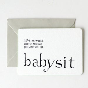 Image of for new + expectant moms / i'll babysit