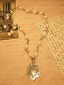 Image of White Baroque Pearls with two-sided Fob 4KK