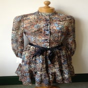 Image of 1970s Gina Fratini Liberty print floral tiered gypsy dress