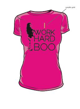 Image of  I WORK HARD BOO (PINK) w