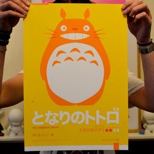 Image of Totoro : : Yellow A3 Print