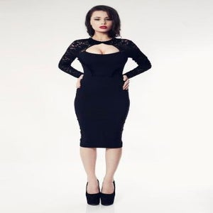 Image of Tempest Black Dolly Dress