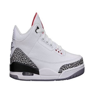 "Image of Nike Air Jordan Retro III (3) ""88 White/Cement"" GS"