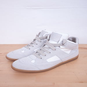Image of Martin Margiela - White Hi-Top German Army Trainers
