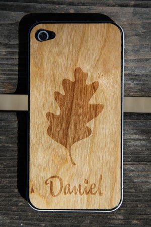 Image of Personalized Real Wood iPhone Skin