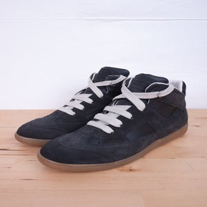 Image of Martin Margiela - Charcoal Hi-Top German Army Trainers