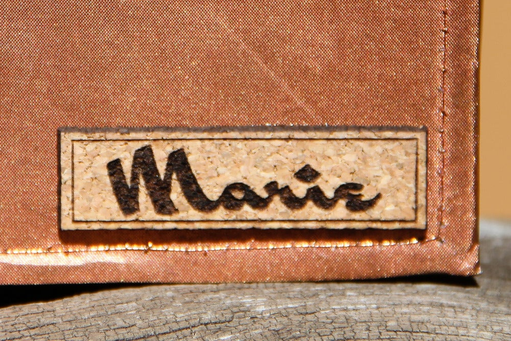 Image of Personalized Real Copper Fabric Wallet