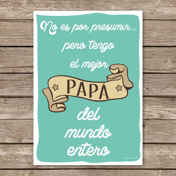 "Image of Lámina ""El mejor papá del mundo"""