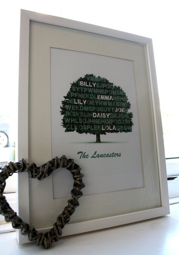 "Image of ""Family Tree"" - Personalised Artwork"