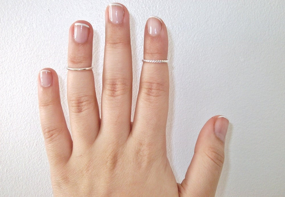 Image of Plain & Twisted Above Knuckle Ring Set