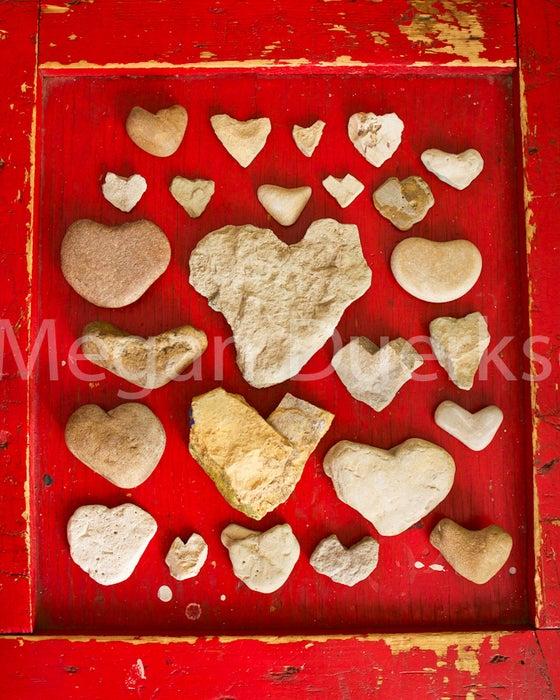 Image of Rock Hearts Print