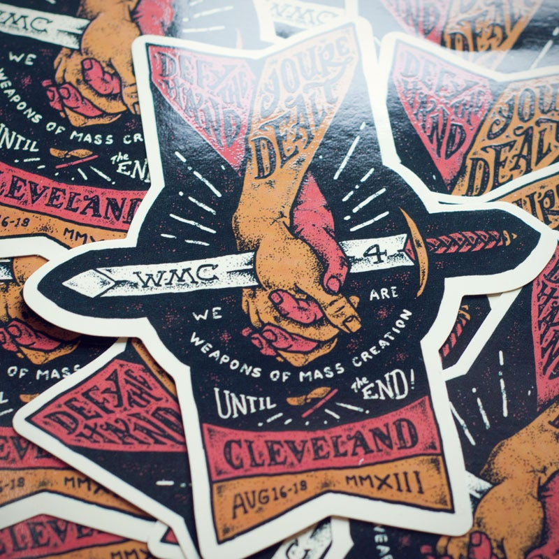 Image of WMC Fest 4 Hands Sticker