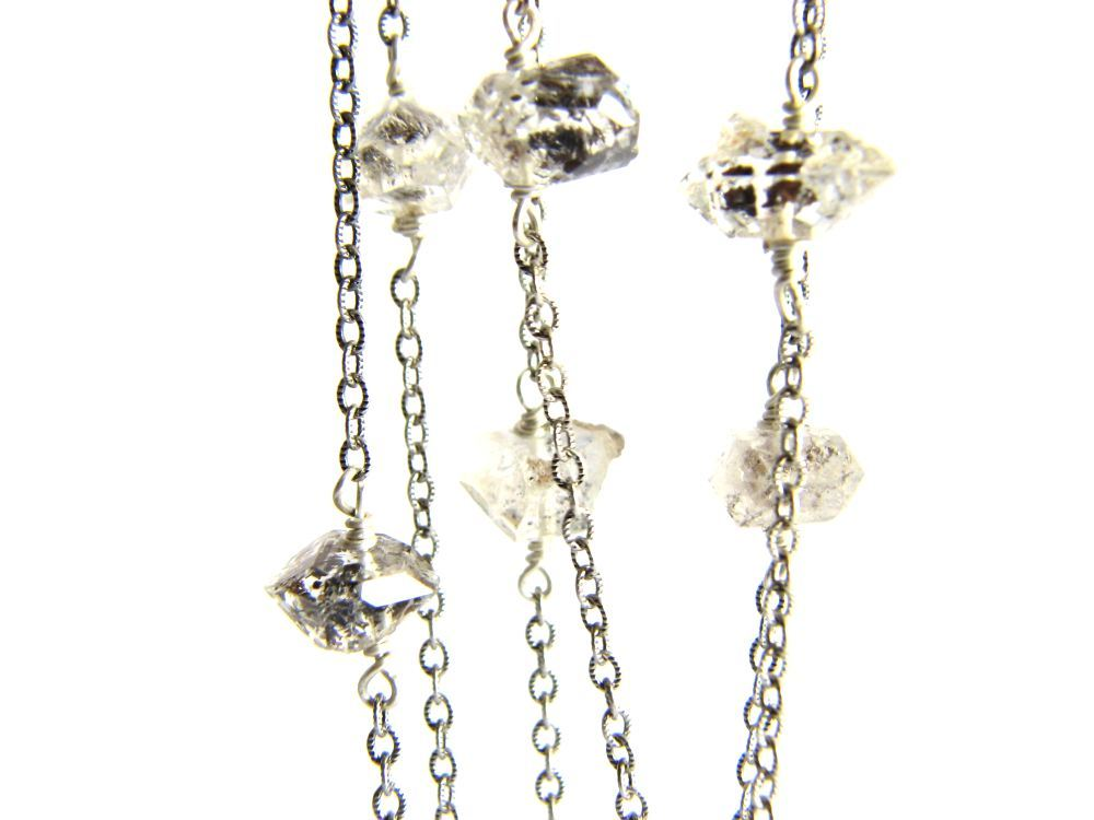 Image of Long double terminated quartz necklace