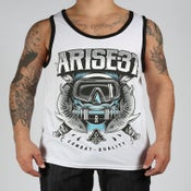 Image of DIVER TANK TOP- WHITE/BLACK