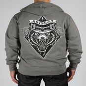 Image of WOLF ZIP UP- CHARCOAL HEATHER