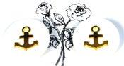 Image of White Anchor Earrings