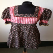 Image of 1970s Fiorucci kitsch floral and gingham micro mini dress/tunic